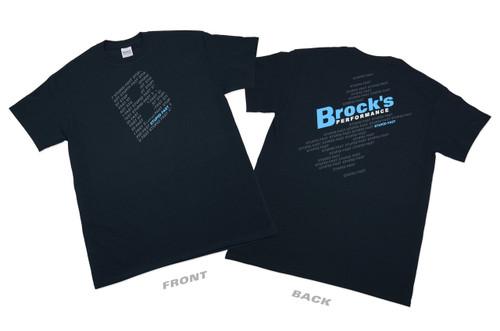 Small Brock's Shirt Black w/ Stupid Fast in Logo