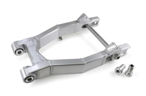 """Street-Pro Aluminum Swingarm (Natural) 0-3"""" Over w/ Speherical Bearings for Harley-Davidson FXR (82-00)"""