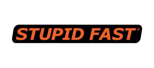 Stupid Fast Decal Black/Orange