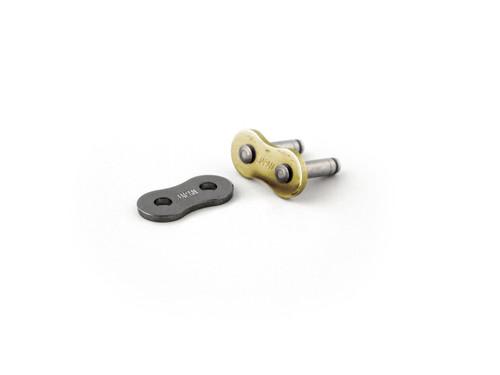 EK Chain 525 ZVX3 Master Link Gold Rivet Type