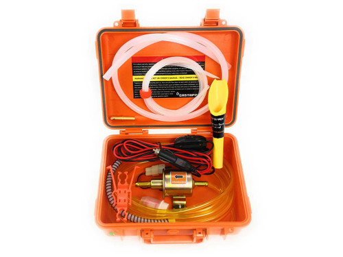GasTapper Standard 12v Fuel Siphon With Weather Resistant Case