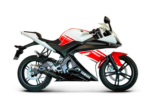 Termignoni Round Stainless/Carbon Full Race System YZF-R125 (08-13)