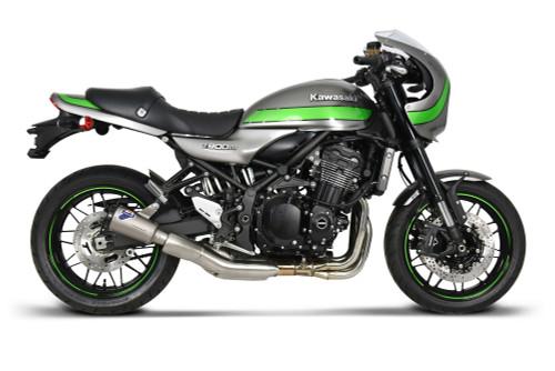 Termignoni SO-02 Slip-On Titanium Sleeve with Black Aluminum End Cap Kawasaki Z900RS (18-19)