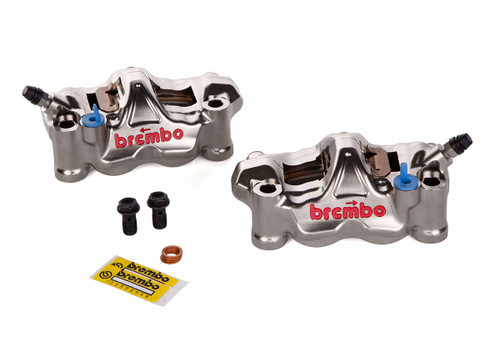 Brembo GP4-RX Front Caliper Set (Radial Mount) Nickel Plated
