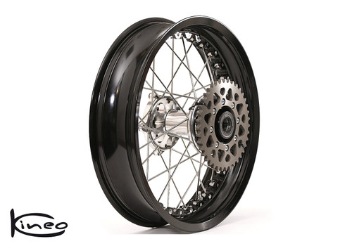 Buy Rear Kineo Wire Spoked Wheel 6.0 x 17.0 Scrambler 800 (15-18)/Cafe Racer and Icon 800 (18-20)/1100/1100 Pro/1100 Sport Pro at the price of US$ 1595 | BrocksPerformance.com