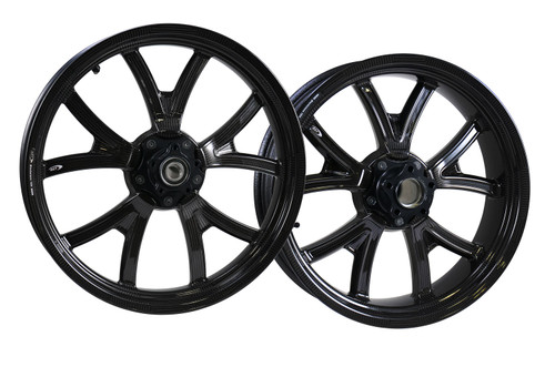 BST Torque TEK Front 19x3 and Rear 17x6  Black Ink Set - Street Bob (18-20) Low Rider (18-20) and Softail 2020