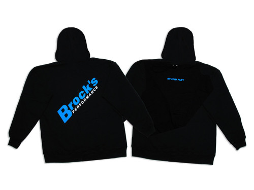 Large Brock's Hooded Sweatshirt w/ Stupid Fast Logo