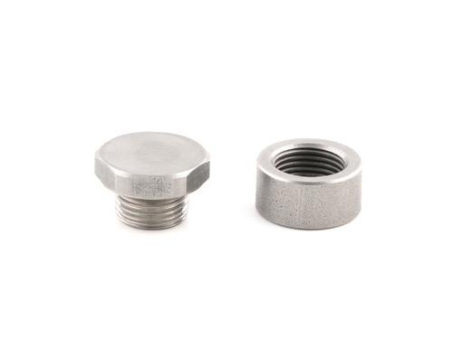 Oxygen Sensor Bung & Plug Kit Stainless Steel