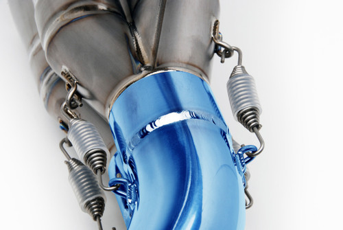 "TiWinder Blue Full System w/ 18"" Muffler Street Baffle B-King (08-11)"