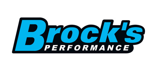 Buy 3 x 12'' Brock's Decal Brock's Blue on Black 903067 at the best price of US$ 3.99 | BrocksPerformance.com