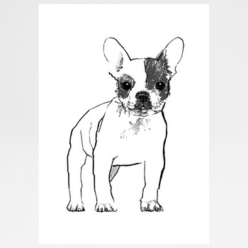 French Bulldog screen print by Tiff Howick at Of Cabbages and Kings.