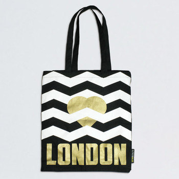 Heart London gold tote bag detail by Alfred & Wilde at Of Cabbages and Kings.