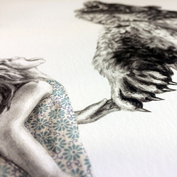 Bear With Me (Special Edition) art print detail 02 by Lauren Mortimer at Of Cabbages and Kings