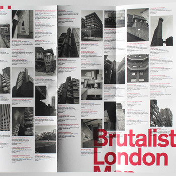 Brutalist London Map detail 03 by Blue Crow Media at Of Cabbages and Kings.