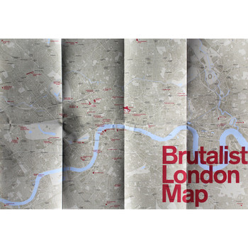 Brutalist London Map detail 04 by Blue Crow Media at Of Cabbages and Kings.