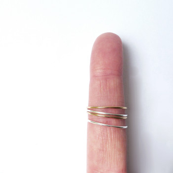 Stacks Ring detail 03 by Custom Made available at Of Cabbages and Kings.