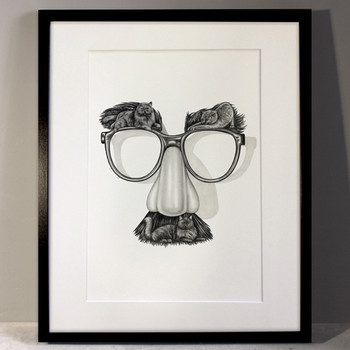 Cats in Disguise framed art print by Lauren Mortimer at Of Cabbages and Kings.