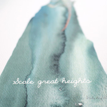 Scale Great Heights close up by Mister Peebles at Of Cabbages and Kings.