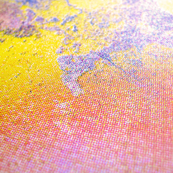 Sunrise screen print detail 02 by Gavin Dobson available at Of Cabbages and Kings.