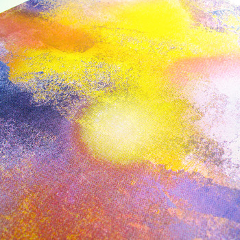 Sunrise screen print detail 01 by Gavin Dobson available at Of Cabbages and Kings.