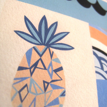 Love Exposure art print pineapple detail by Adam Bartlett available at Of Cabbages and Kings.