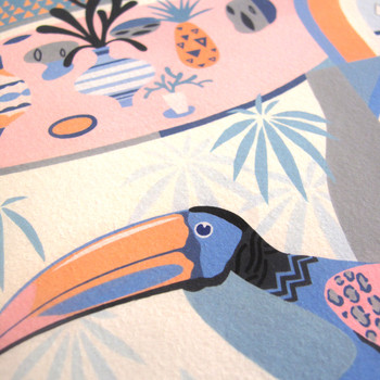 Love Exposure art print toucan detail by Adam Bartlett available at Of Cabbages and Kings.