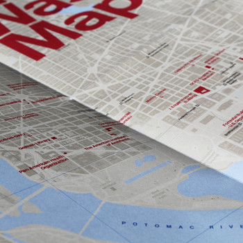 Brutalist Washington Map detail 01 by Blue Crow Media available at Of Cabbages and Kings.