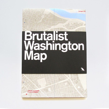 Brutalist Washington Map by Blue Crow Media available at Of Cabbages and Kings.