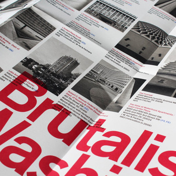 Brutalist Washington Map detail 02 by Blue Crow Media available at Of Cabbages and Kings.