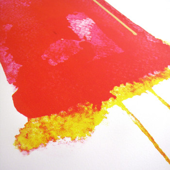 Strawberry Split screen print detail by Gavin Dobson at Of Cabbages and Kings