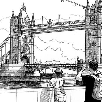 Tower Bridge art print detail by Mike Hall at Of Cabbages and Kings.