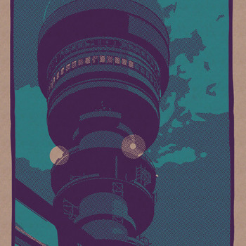 Post Office Tower art print detail 01 by Liam Devereux at Of Cabbages and Kings