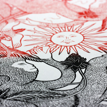 Don't Sell The Sun To Buy A Candle screen print sun by Tom Berry at Of Cabbages and Kings