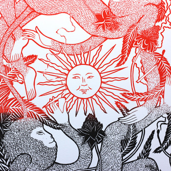 Don't Sell The Sun To Buy A Candle screen print centre by Tom Berry at Of Cabbages and Kings