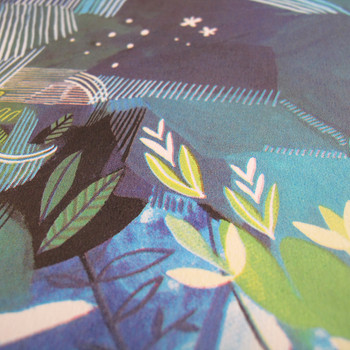 Ponds and Plants screen print detail 04 by Ashley Amery at Of Cabbages and Kings