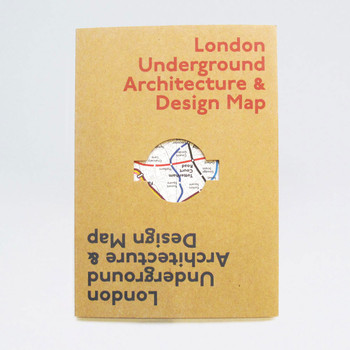 London Underground Architecture & Design Map by Blue Crow Media at Of Cabbages and Kings