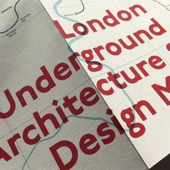 London Underground Architecture & Design Map detail 01 by Blue Crow Media at Of Cabbages and Kings