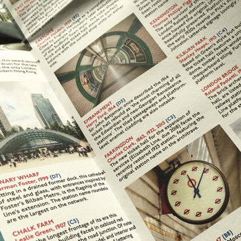 London Underground Architecture & Design Map detail 02 by Blue Crow Media at Of Cabbages and Kings