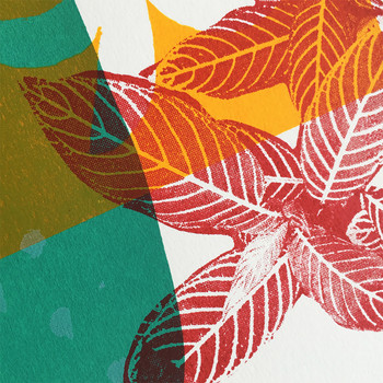 Moroccan Garden screen print detail 02 by Anna Schmidt available at Of Cabbages and Kings.