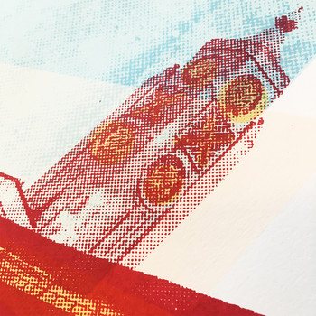 Oxo Tower screen print detail 01 by Anna Schmidt available at Of Cabbages and Kings.