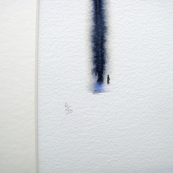 Poles Apart But Very Much In Love art print detail 03 by Sarah Beaton at Of Cabbages and Kings