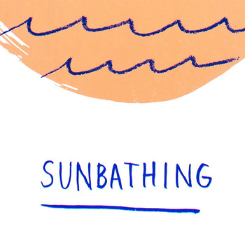 Sunbathing screen print detail 02 by Marcelina Amelia at Of Cabbages and Kings