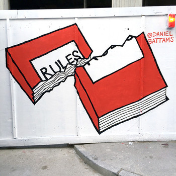 Rules Mural on Leonard Street by Daniel Battams at Of Cabbages and Kings