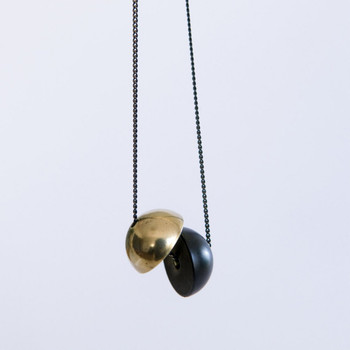 Equilibrium Sphere Necklace detail 03 by Brass & Bold at Of Cabbages and Kings