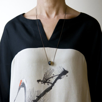 Equilibrium Sphere Necklace detail 01 by Brass & Bold at Of Cabbages and Kings