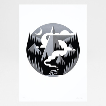 Hideaway screen print by The Lost Fox available at Of Cabbages and Kings.