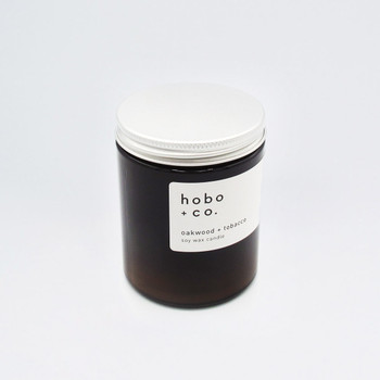 Oakwood + Tobacco Medium Scented Soy Wax Candle at Of Cabbages and Kings