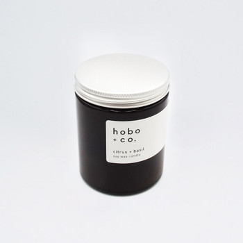 Citrus + Basil Sustainable Scented Soy Wax Candle at Of Cabbages and Kings