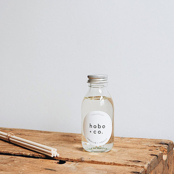 Oakwood + Tobacco Reed Diffuser lifestyle 01 by Hobo + Co at Of Cabbages and Kings