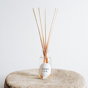 Oakwood + Tobacco Reed Diffuser lifestyle 02 by Hobo + Co at Of Cabbages and Kings